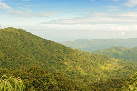 fortuna: Montains and tropical rain forest in Fortuna Natinal Park in Panama on January 8, 2014