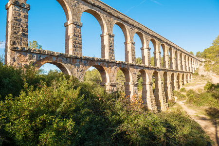 1st century: Aqueducts from the Roman area   1st century  build between the sides of the Arcs ravine which brought the water from the Francoli river to the ancient city of Tarraco, capital of the Roman province of Hispania