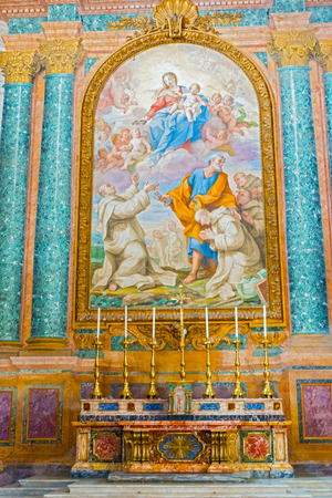 martiri: Rome, Italy - September 1, 2014: Main altar inside the  Basilica of Santa Maria Degli Angeli E Dei Martiri in Rome, Italy. Editorial