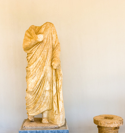 greece granite: Ancient sculpture in museum at Olympia, Greece Editorial