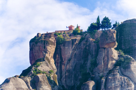 The Holy Monastery of St. Stephen, Meteora Greece. It has small church built in the 16th century. Nuns took it over and reconstructed it.