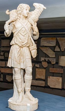 good shepherd: Statue of good shepherd in Vatican museum