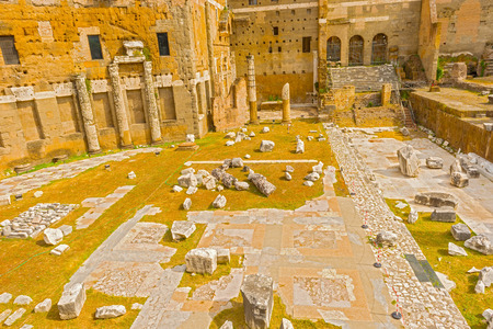 The Forum of Augustus is one of the Imperial forums of Rome, Italy, built by Augustus. It includes the Temple of Mars Ultor. photo