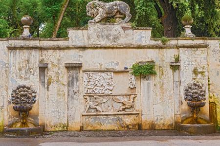 villa borghese: Rustic water fountain in the Villa Borghese in Rome, Italy. Editorial