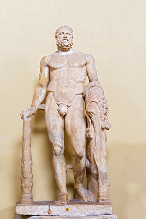 The statue of  the man in Vatican Museum.