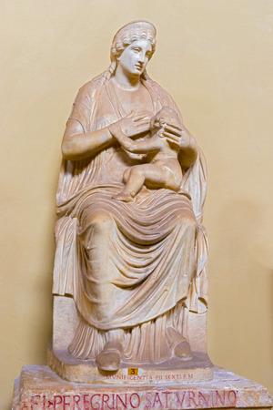 Statue of the Isis Breastfeeding Arpograte in Vatican museum