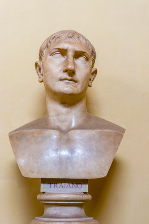 attributed: Bust attributed to Trajan, from From Ostia in Vatican Museums