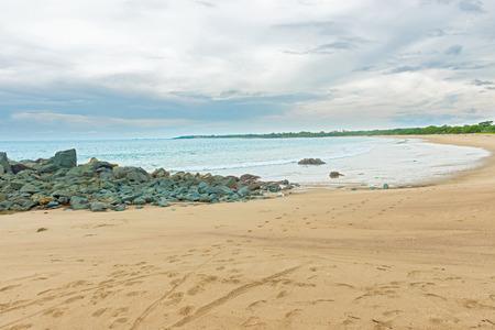 Picturesque rocks at the beach in Azuero Peninsula in Pedasi, Panama.