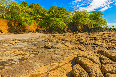 shore line: Low tide shows rocky shore line on the Pacific ocean in Santa Catalina