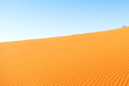 sand dune: Panoramic view at sand dune in the Namibian Desert near Sossusvlei Stock Photo