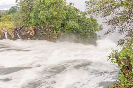 zambia: Zambezi river at  Victoria Falls in Zambia