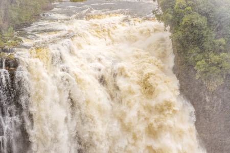 zambia: View of the Victoria Falls in Zambia Stock Photo
