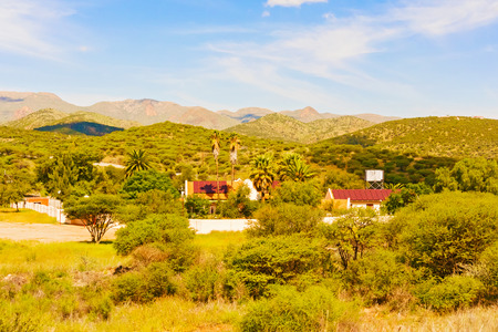 namibia: Rural area landscape near Windhoek in Namibia.