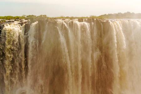 zimbabwe: View of the Victoria Falls in Zimbabwe Stock Photo