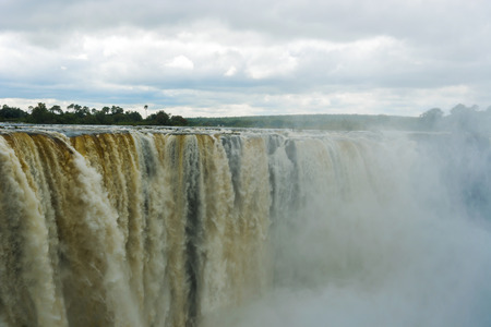extreme terrain: View of the Victoria Falls in Zambia Stock Photo
