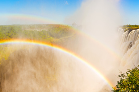 zimbabwe: Rainbow over the Victoria Falls in Zimbabwe