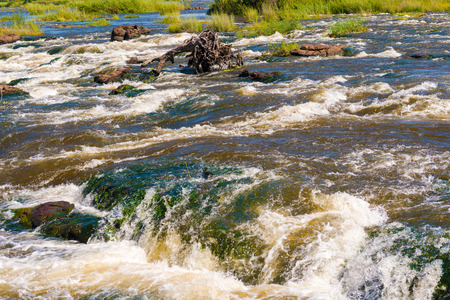 extreme terrain: Zambezi river at Victoria Falls in Zimbabwe