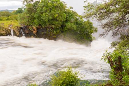 Zambezi river at  Victoria Falls in Zambia