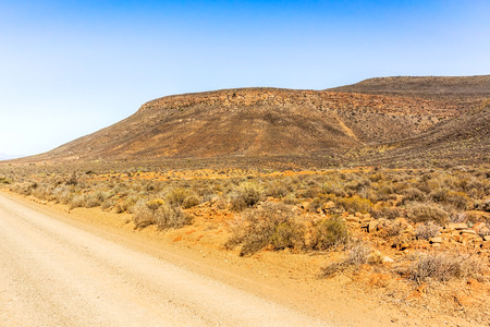 substantial: The Botterkloof pass is a fairly substantial altitude gaining pass in the Northern Cape between Clanwilliam and Nieuwoudtville. Stock Photo
