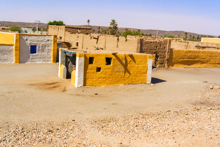 dwelling: Rural village by the river Nile south of Wadi Halfa in Sudan.