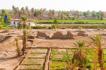 rural area: Rural area landscape near Dongola in Sudan. Stock Photo