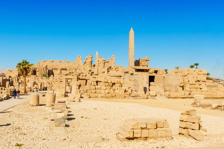 thebes: Obelisk of the Karnak temple, Luxor, Egypt (Ancient Thebes with its Necropolis).