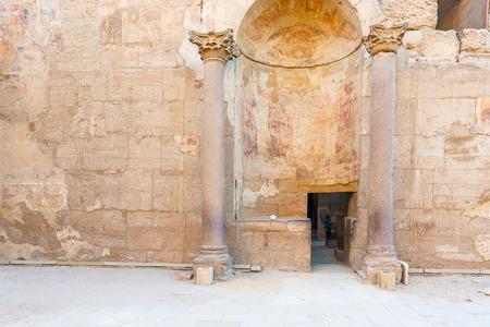 Ver en columnas en el templo de Luxor Egipto. Foto de archivo - 42959552