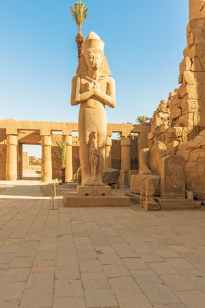 Pillars of the Karnak temple, Luxor, Egypt (Ancient Thebes with its Necropolis).