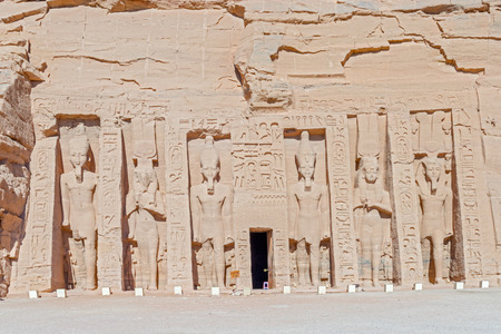 cartouche: The Temple of Hathor and Nefertari called the Small Temple in  Abu Simbel. Egypt.