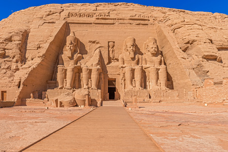 The temple of King Ramses II in Abu Simbel in Egypt.