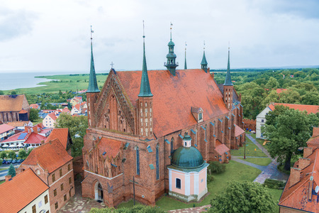 copernicus: Frombork Cathedral, famous church where Copernicus lived and died. Editorial