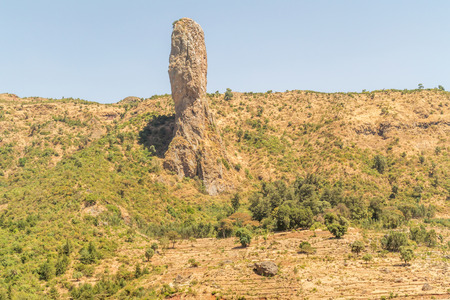 addis: Landscape in Ethiopia near Addis Zemen.