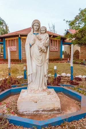missionary: Statue of St. Mary with a child in Catholic Pastoral Centre in Marsabit Kenya