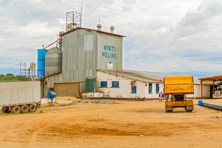 zambia: Lusaka, Zambia - April 4, 2015: View at the buildings of  Nyati milling plant near Lusaka in Zambia
