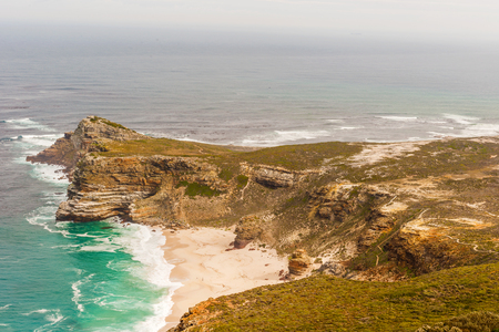 Panorama of the Cape of Good Hope South Africa. The photo is taken from Cape Point.
