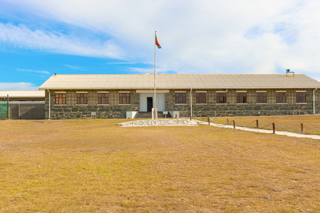 robben island: Robben Island Prison where Nelson Mandela was imprisoned, now a museum, Cape Town, South Africa