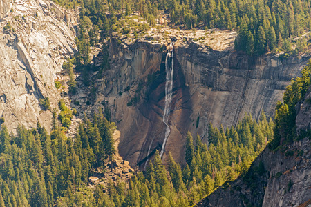 vernal: On the trail to Half dome at Yosemite National Park  passing by Vernal waterfall Stock Photo
