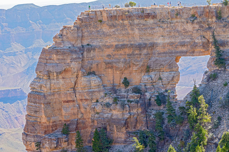 north window arch: Angels Window is a large natural arch formed in a fin of rock at Cape Royal, on the North Rim of Arizonas Grand Canyon