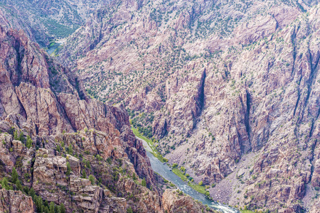 'southwest usa': View at picturesque Black Canyon of the Gunnison National Park in Colorado, USA.