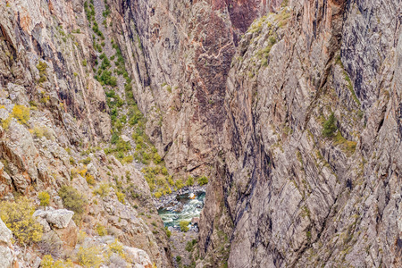 View at picturesque Black Canyon of the Gunnison National Park in Colorado, USA.