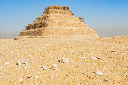 djoser: The first Egyptian Pyramid of Pharaoh Djoser 27 th century BC is situated in the necropolis of Saqqara, its stepped pyramid, actually at restoration.