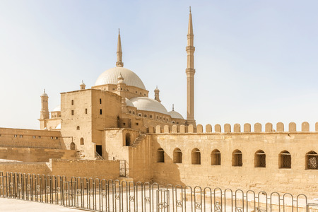 muhammad: View at the Mosque of Muhammad Ali in the Citadel of Saladin in Old Cairo, Egypt