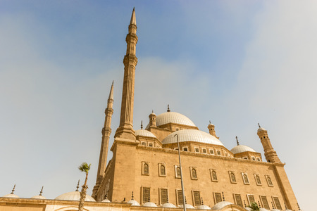 View at the Mosque of Muhammad Ali in the Citadel of Saladin in Old Cairo, Egypt