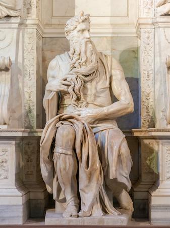 vincoli: Michelangelo  Moses statue in San Pietro in Vincoli church in Rome,  Italy