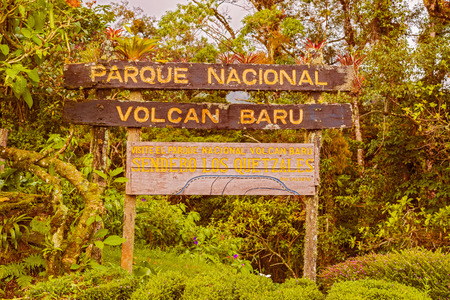 volcan: Sign into Volcan Baru National PArk inear Boquete in Panama