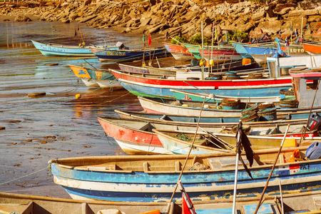Fisherman boats on the shore of Pacific ocean in small fisherman village El Rompio in Panama Editorial