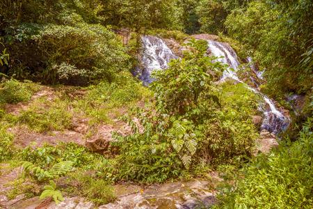 fe: Waterfall in rainforest near Santa Fe in Panama