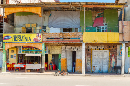 run down: Salinas, Ecuador - April 13, 2016: Old run down houses in Salinas, Ecuador. Editorial