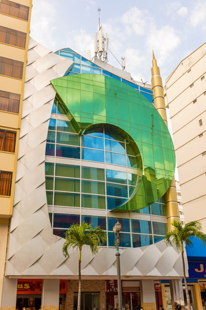 guayaquil: Guayaquil, Ecuador - April 16, 2016: Modern buildings in downtown of Guayaquil in Ecuador. Editorial