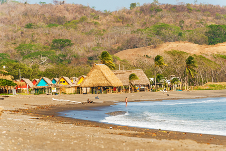 playa: Playa Venao, Panama - March 23, 2016: Playa Venao is situated on Pacific ocean near town of Pedasi in Panama. It is world major surfers destination. Editorial